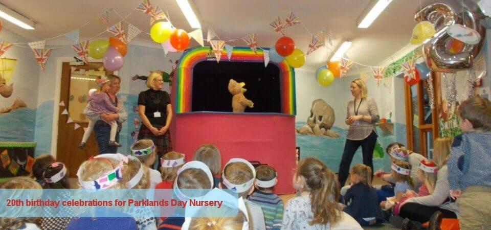 20th birthday celebrations for Parklands Day Nursery